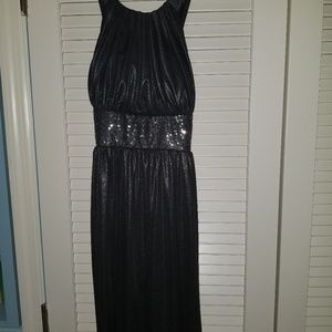 Sz10 Calvin Klein Black Metallic Sparkle Dress